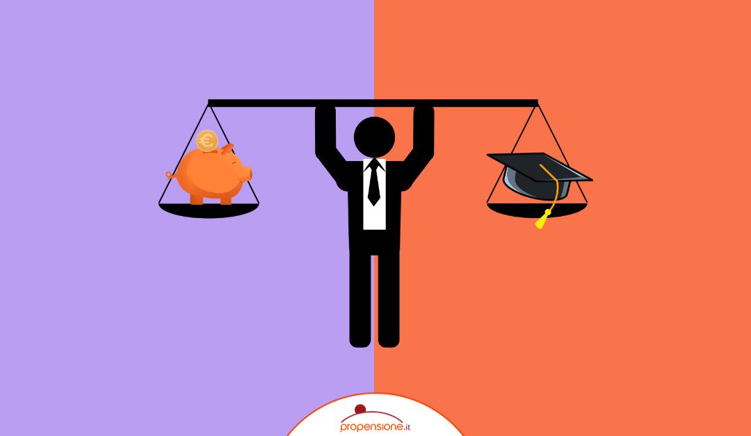 Riscatto di laurea e fondo pensione a confronto